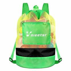 Beach BagExtra Large Mesh Beach Backpack Durable Adjustable Shoulder Green $15.47