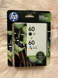 New Hp 60 N9h63fn140 Black Noir + Tri-color Ink Cartridge - 2 Pack Exo 3/2022+