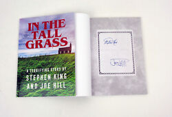 Stephen King And Joe Hill Dual Signed Autograph In The Tall Grass Novella Book