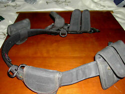 """Used L Bianchi Police Security Tactical/duty Belt 40-46""""size 1 W/accessories"""
