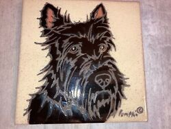 SCOTTISH TERRIER TILE SCOTTY DOG DIANA quot;PUMPKINquot;MADE IN ITALY