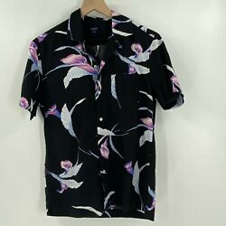 J.Crew Factory Floral Button Up Shirt Size Small Men Short Sleeves Cotton $25.00