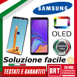 Display Lcd+touch Screen Oled=originale Samsung Galaxy A7 2018 Sm-a750f Schermo