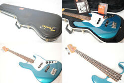 Fender Usa 4 String American Standard Blue Electric Jazz Bass Guitar With Case