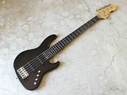 Atelier Z Beta 5 Black 5 Strings Electric Bass Guitar S/n 035569 With Gig Bag