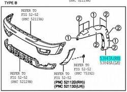 Toyota 53847-35120-b0 Front Wheel Opening / Arch Moulding Extension Rh Genuine