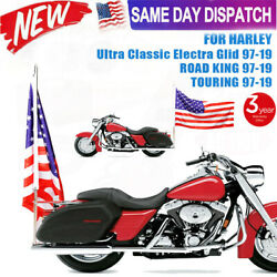 Usa Motorcycle Rear Flag Pole Luggage Mount For Harley Touring Flhr Dyna Softail