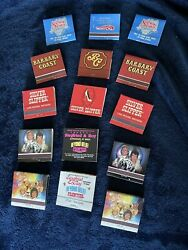 15 Matchbooks Silver City,barbary Coast,silver Slipper Siegfried And Roy Old Vegas