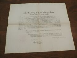 Warren G. Harding - Document Signed - Appoints Consul To Germany After Wwi Ends