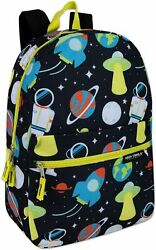 Boys 17 Inch Backpacks for School Lightweight Printed Bookbags Spaced Out $14.09