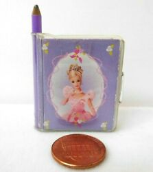 Miniature Barbie Notebook W Pages Vintage Mini Note Book Diary Sketch Pad Tiny