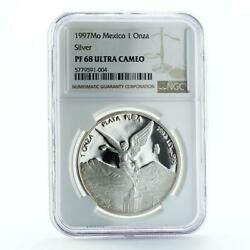 Mexico 1 Onza Libertad Angel Of Independence Pf68 Ngc Proof Silver Coin 1997