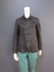 De Rien Dr Jacket New Black Antique Natural Fabric Size 1 With Lining