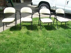 American Seating Co Cushioned Metal Folding Chairs With Arms Grand Rapids Mi
