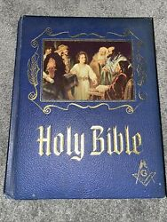 1964 Masonic Master Reference Edition Heirloom Red Letter Holy Bible Gold Gilt
