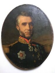 Fine 19th Century Portrait French General Napoleon Iii Army French Military