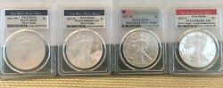2017 Silver American Eagles - Set Of Four - West Point And San Francisco Mints