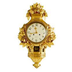 Gustavian Wall Clock 1900and039s