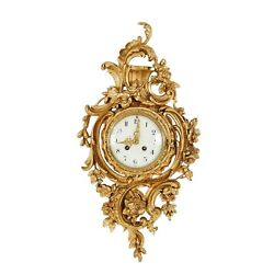 Rococo Wall Clock 1900and039s