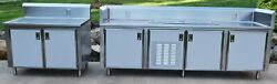 Stainless Steel Set-n-serve Refrigerated Table W/ Additional Table
