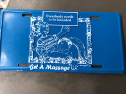 Licence Plate Novelty Massage Therapist Everybody Needs To Be Kneaded