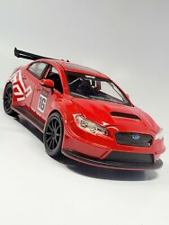 2016 Subaru Wrx Sti Red Handmade Metal Diecast Rally Racing Car 1/24 Scale