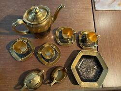 Pickard China Set Black And Gold Made From 1929 To 1939 In Roses And Daisy Pattern
