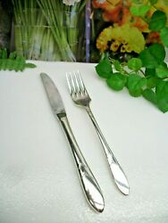 Oneida Community Silver Lady Hamilton Silverplate Youth Knife And Fork Set  1932