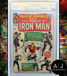 Tales Of Suspense 57 Gd+ 2.5 Marvel Cgc Signature Series Signed Stan Lee