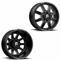 20x8.25 Ff09d Fuel Forged Matte Blk Mill Ford/dodgedually Wheels 8x200 Set Of 6