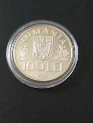 100 Lei 1996 Romania 50th Anniversary Of The Unicef Ag Proof