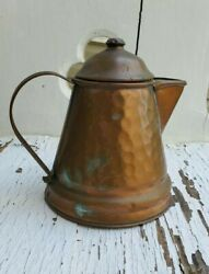 Vintage Hammered Copper Coffee/tea Pot Made By Gregorian 5 1/2
