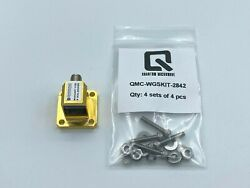 Ducommun Wr-42 Waveguide To Coax Adapter Gold Plated