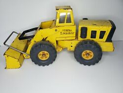 Vintage Yellow Mighty Tonka Front End Loader Steel Toy Truck 1970s- 19x9 1/2