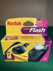 """Kodak Power Flash Disposable Camera """"new Better Indoor Pictures"""" Expired 2007"""