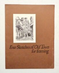 Vintage Landmarks Of Old Town 1968 Chicago - Sketches By Don Davey Architecture
