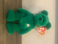 Rare Ty Beanie Baby Erin The Bear With Errors. Excellent Condition