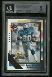 1992 Wild Card Barry Sanders 20 Stripe 108 Bgs 9 National Convention Rare