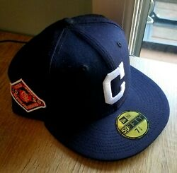Hat Club Exclusive Cleveland Indians Ws1920 Nvy/wht - Size 7 3/8