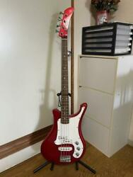Yamaha Sbv Red 4 String Electric Bass Guitar Shipped From Japan
