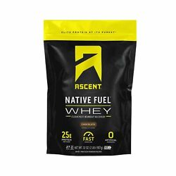 Ascent Native Fuel Whey Protein Powder - Chocolate - 2 Lbs 2 Pound Pack Of 1