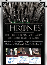 2021 Game Of Thrones The Iron Anniversary Series 1 Factory Sealed 10-box Case