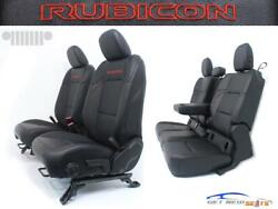 Jeep Gladiator Jt Rubicon Black Leather Red Embroidery New Seats 2020 2021