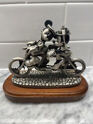 Disney Chilmark Mickey Minnie Bicycle Built For Two Pewter Figure Figurine 1994