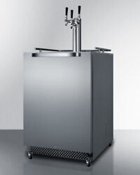 Summit Sbc695ostriple Built-in Kegerator Andndash Outdoor 24 Wide Stainless