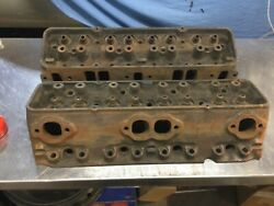1965 Corvette 327 Engine Heads Very Good Set Ported And Polished Rebuild Ready