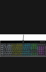 Corsair - K55 Rgb Pro Wired Gaming Membrane Keyboard With 5-zone Rgb Backligh...