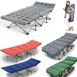 Folding Camping Cot Heavy Duty Sleeping Cot W/carry Bag For Home/office Vacation