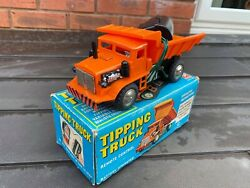 Marx Toys Empire Made Tipping Truck In Its Original Box - Nice Vintage 1964