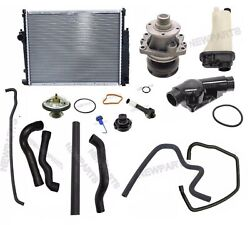 Radiator Coolant Hoses Thermostat Tank Water Pump Kit For Bmw E36